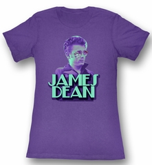 James Dean Juniors T-shirt Bro Again Purple Tee Shirt