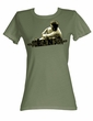 James Dean Juniors T-shirt Dean 55 Military Green Tee Shirt