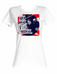 James Dean Juniors T-shirt Ice Cold White Tee Shirt