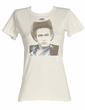James Dean Juniors T-shirt James Dean Icon Dirty White Tee Shirt