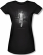 James Dean Juniors T-shirt Out For A Walk Black Tee Shirt