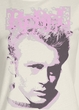 James Dean Juniors T-shirt Rebel Dirty White Tee Shirt