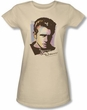 James Dean Juniors T-shirt Watercolor Dean Cream Tee Shirt