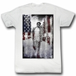 James Dean Shirt American Flag Adult White Tee T-Shirt