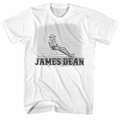 James Dean Shirt Chair Fence White T-Shirt