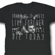 James Dean Shirt Die Today Adult Black Tee T-Shirt