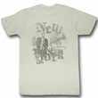 James Dean Shirt Faded Pic Adult Dirty White Tee T-Shirt