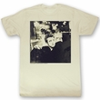 James Dean Shirt Kicked Back Adult Dirty White Tee T-Shirt