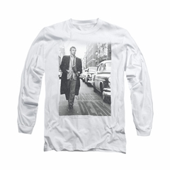James Dean Shirt On The Street Long Sleeve White Tee T-Shirt