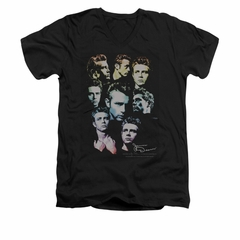 James Dean Shirt Slim Fit V-Neck Sweater Series Black T-Shirt