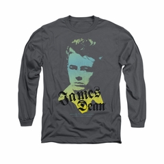 James Dean Shirt Tortured Soul Long Sleeve Charcoal Tee T-Shirt