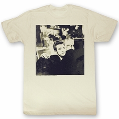 James Dean T-shirt Actor Kicked Back Adult Natural Tee Shirt