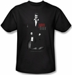 James Dean T-shirt Love Letters Adult Black Tee Shirt