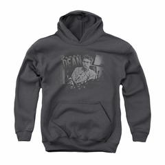 James Dean Youth Hoodie Worn Out Charcoal Kids Hoody