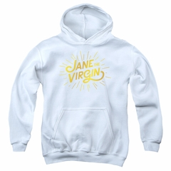 Jane The Virgin Sweatshirt Golden Logo Adult White Sweat Shirt