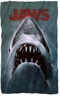 "JAWS Movie Poster Microfiber Fleece Blanket - 36"" X 58"""