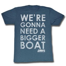 Jaws Shirt A Bigger Boat Slate T-Shirt