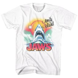 Jaws Shirt Airbrush White T-Shirt