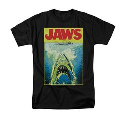 Jaws Shirt Bright Long Sleeve Black Tee T-Shirt