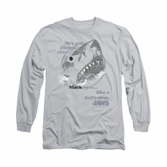 Jaws Shirt Doll's Eyes Long Sleeve Silver Tee T-Shirt