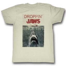 Jaws Shirt Droppin Jaws Off White T-Shirt
