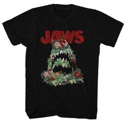 Jaws Shirt Flowers Black T-Shirt