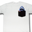 Jaws Shirt Great White Pocket Adult White Tee T-Shirt