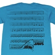 Jaws Shirt Jaw Music Notes Adult Turquoise Tee T-Shirt