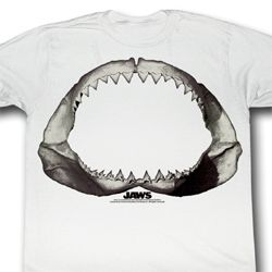 Jaws Shirt Jaws Adult White Tee T-Shirt