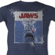 Jaws Shirt Jaws Population Adult Blue Tee T-Shirt