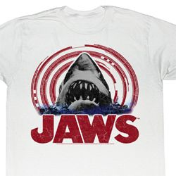 Jaws Shirt Jaws Spiral Adult White Tee T-Shirt