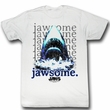 Jaws Shirt Jawsome Adult White Tee T-Shirt