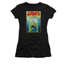 Jaws Shirt Juniors Bright Black T-Shirt