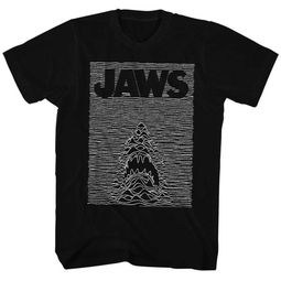 Jaws Shirt Juniors White Lines Black T-Shirt