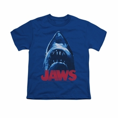 Jaws Shirt Kids From Below Royal Blue T-Shirt