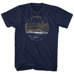 Jaws Shirt Late Swim Navy Blue T-Shirt