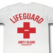 Jaws Shirt Lifeguard Adult White Tee T-Shirt