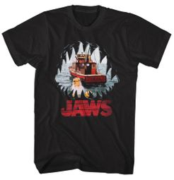 Jaws Shirt Mouth POV Black T-Shirt
