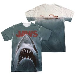 Jaws Shirt Poster Sublimation Shirt Front/Back Print