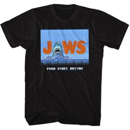 Jaws Shirt Push Start Button Black T-Shirt