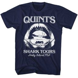 Jaws Shirt Quints Shark Tours Navy T-Shirt