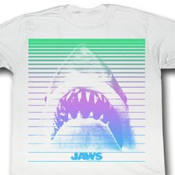 Jaws Shirt Shark Blends Adult White Tee T-Shirt