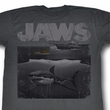 Jaws Shirt Shark Boat Adult Charcoal Tee T-Shirt