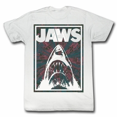 Jaws Shirt Shark Jaws Adult White Tee T-Shirt