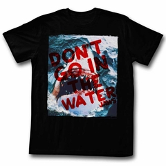 Jaws Shirt Shark Out Of Water Black T-Shirt