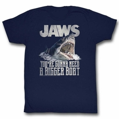 Jaws Shirt Shark Painting Navy T-Shirt