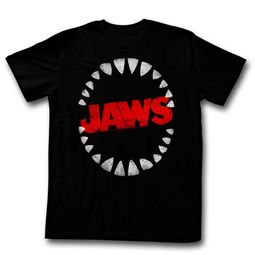 Jaws Shirt Shark Teeth Black T-Shirt