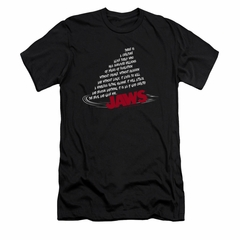 Jaws Shirt Slim Fit Dorsal Text Black T-Shirt