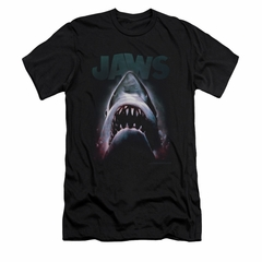 Jaws Shirt Slim Fit Terror In The Deep Black T-Shirt