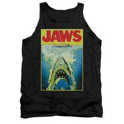 Jaws Shirt Tank Top Bright Black Tanktop